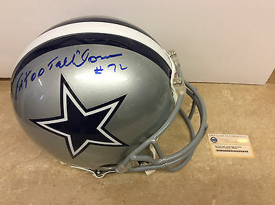 Ed Too Tall Jones Autographed/Signed Dallas Cowboys Riddell Full Size helmet