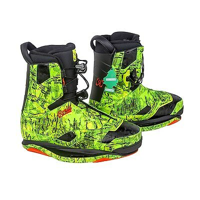 Ronix Frank Intuition (Forest Pine) Wakeboard Bindings-Size: 8-9, 10, 11