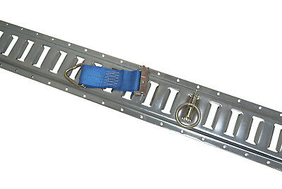 6 Pieces of Galvanized E-Track w/ Tie Offs and O Rings for Interior Trailers