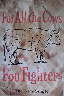 "40x60"" HUGE BUS SHELTER POSTER~Foo Fighters 1995 For All the Cows Single Album~"