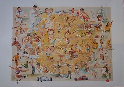"Australian ""champions"" Limited Edition Hall Of Fame Poster Signed By The Artist"