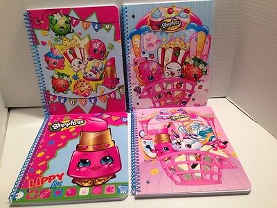 Shopkins Spiral Notebook 1 Subject 80 Sheets Wide Ruled 3 Hole Punched