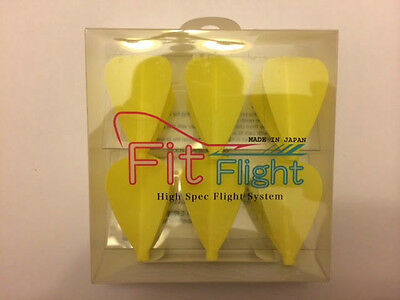 Cosmo Fit Flights Pack Of 6 Yellow Kite Shape