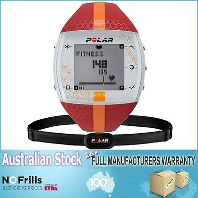 Polar FT7 Heart Rate Monitor Watch (Red/Or) with AUST POLAR WARRANTY