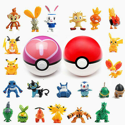 New 9Pcs Pokeball with Mini Figures Cosplay Pop-up Kids Children Toy