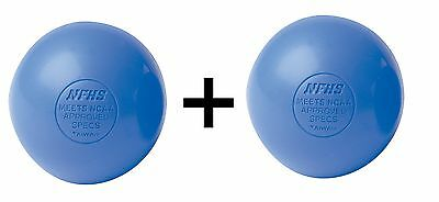 Champion Lacrosse Ball NFHS NCAA Mobility Massage Therapy, Blue (2-Pack)