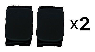 Martin Sports Volleyball Basketball Knee Pads Black MED 1 Pair Elastic (2-Pack)