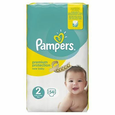 PAMPERS New Baby Taille 2 - 3 a 6 kg - 54 couches