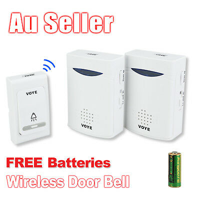New 38 Melodies Battery Wireless Doorbell Door Bell Sync 2 Receiver 100m Range