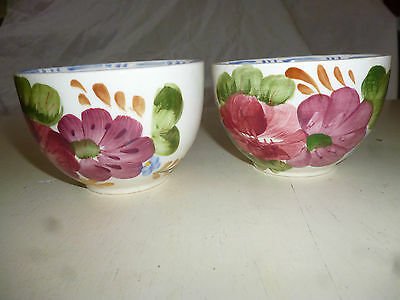 SIMPSONS CHANTICLEER WARE 2 BELLE FIORE SMALL BOWLS - 9.5cm diameter