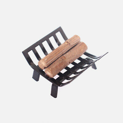 Dolls House Miniature Firewood/logs In Metal Holder Rack Fireplace Accessory