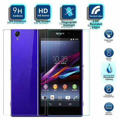 100% 9H Front + Back HD Tempered Glass Screen Protector For All Sony Xperia New