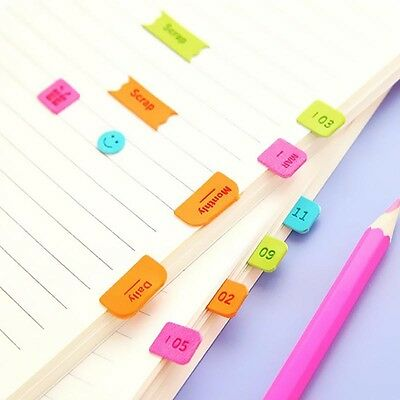 Imitation Leather Month Sticker Bookmark Sticky Markers Memo Tab Divider New
