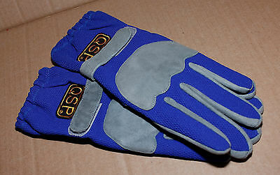 QSP Karting Gloves Blue Meidum