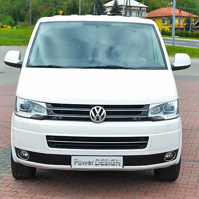Eyebrows for VW T5 Facelift XENON  2009-2015 headlight eyelids lids ABS Plastic
