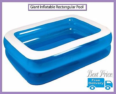 Giant Inflatable Rectangular Paddling Outdoor Pool, Family Fun Available In 3 Si