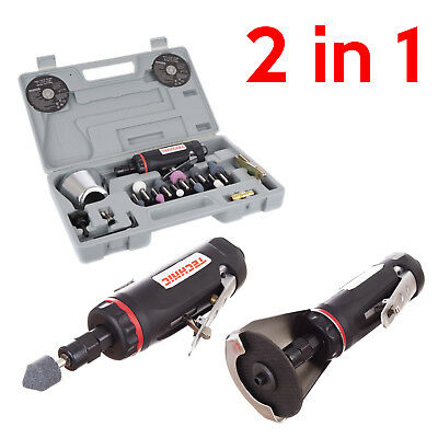 "3"" Air Cut Off Tool and 1/4"" Die Grinder Kit Professional Pneumatic Tool 6mm"