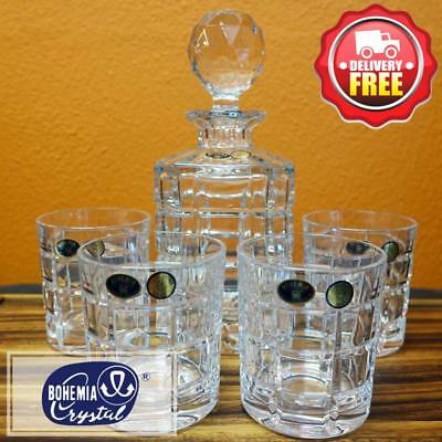 Bohemia Crystal (048.189) ICE 5pcs Whiskey Decanter Set | Birthday Man Cave Gift
