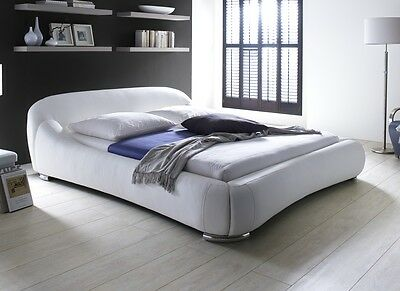 Designer Luxury Leather Bed Upholstered bed modern Bed black or white Double bed