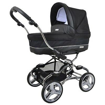 Bebecar  Chassi Stylo ELS Chrome Black Combination Pram |New|Sealed|Qik Shippn|
