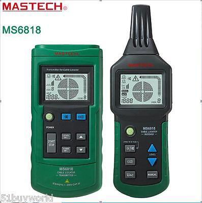 Mastech MS6818 12~400V AC/DC Wire Cable Tracker Pipe Locator Detector Tester LCD
