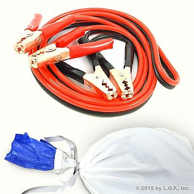 Jumper Cable Heavy Duty 12 FT 8 Gauge Booster Jumping Commercial Power Gift Set