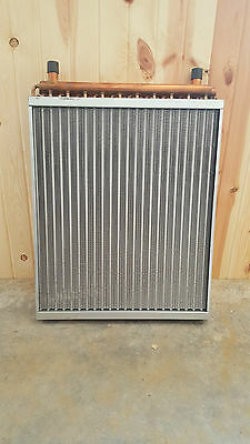 "22x25  Water to Air Heat Exchanger With 1"" Copper ports~~~AMERICAN MADE!"
