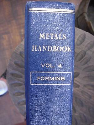 Metal Handbook ASM Vol 4 8th Edition Book Forming 1969 Hard Cover