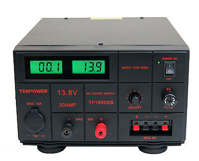 TekPower TP1830SB DC Adjustable DC Power Supply 1.5-15V 30A with Digital Display