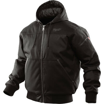 Milwaukee 252BM Medium Hooded Jacket Wind and Water Resistant, Black New