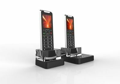 Motorola IT62T Thin Cordless Phone 2 Handsets,Mobile Connectivity with Bluetooth