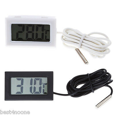 Digital Embedded Thermometer LCD Instant Refrigerator Aquarium Cooking Monitor