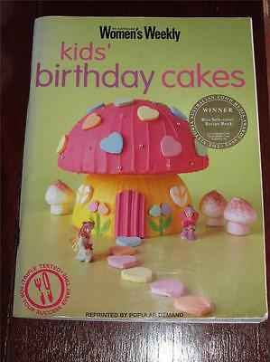 Womens Weekly Cookbook Cooking Kids Birthday Cakes Recipes Parties