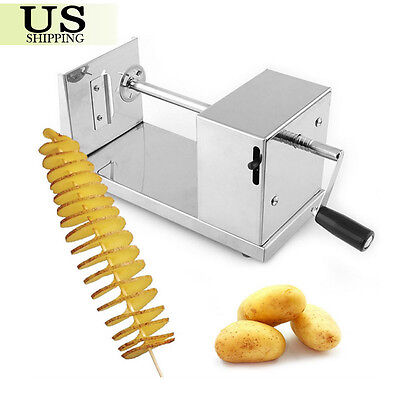 Stainless Steel Spiral Slicer Potato Twisted French Fry Vegetable Manual Cutter