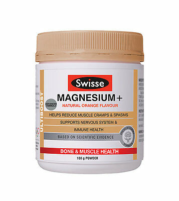 Swisse Ultiboost Magnesium Support Muscle Cramps Spasm Immune Health 180g Powder