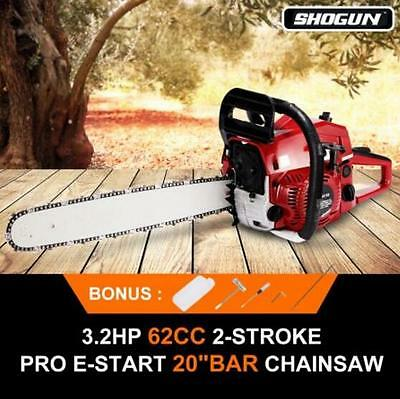 62cc Chainsaw Max Power 2400W 20 inch Bar 2-Stroke Chain Saw 260ml oil tank