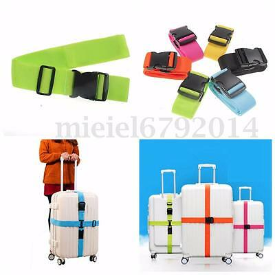 1/2X Adjustable Suitcase Luggage Straps Travel Baggage Belt Buckle Tie Down Lock