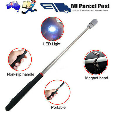 81CM Extendable Telescopic Flexible LED Torch Magnetic Pick-Up Tool Magnet Rod