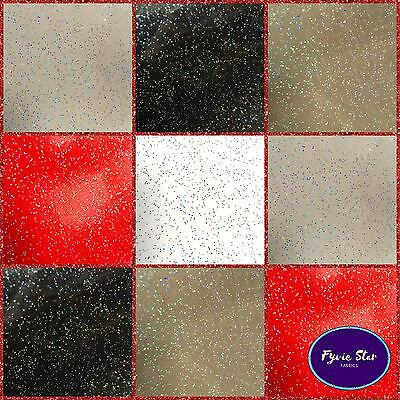 Vinyl PVC Tablecloth - Easy Wipe Clean GLITTER Solid Patio Oilcloth 138cm Wide