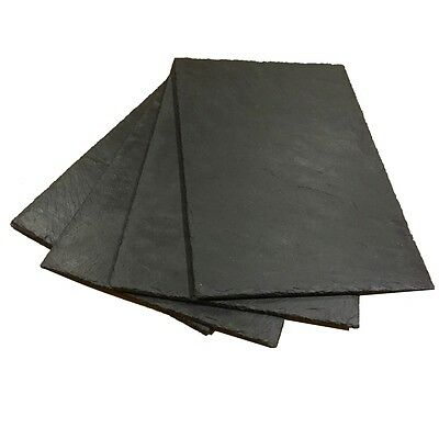 6 Natural Slate Placemats - Handcrafted Table Place Mats Platters Cheeseboards