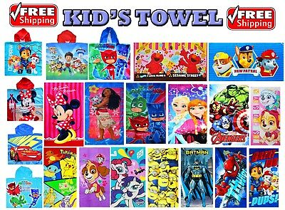 New Kids Cotton Towel Beach Bath Pool Swim Frozen Paw Patrol Toys Girl Boys Gift
