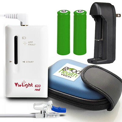 NEW! $330 VieLight Intranasal Light Therapy 633 Red LED Premium Bundle - SALE!