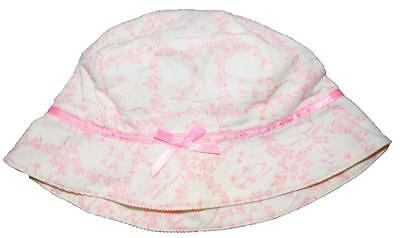 Gymboree Baby Girls Size 3 6 Months Cream Pink Corduroy Sun Summer Cotton Hat