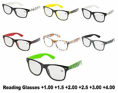 Women Men READING GLASSES +1.00 +1.5 +2.00 +3.00 +4.00 Eyeglasses Vision Care