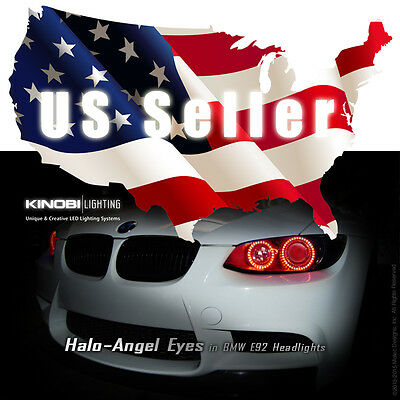 RED BMW E92 & Multi-Color LED Halo-Angel Eyes Rings kit RF REMOTE Buy It!
