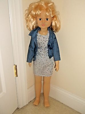 Uneeda Doll Co  TS20 DOLL Large 30 Inch Plastic Stand Up Eyes Move  Tilt 15014C