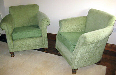 Pair of Club Lounge Armchairs