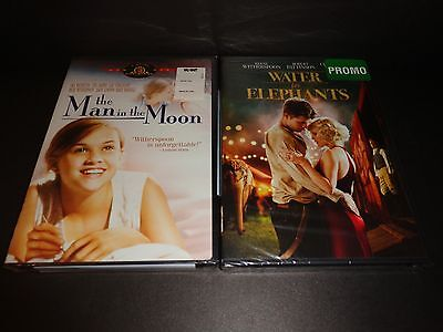 THE MAN IN THE MOON & WATER FOR ELEPHANTS-2 DVDs-REESE WITHERSPOON, R PATTINSON