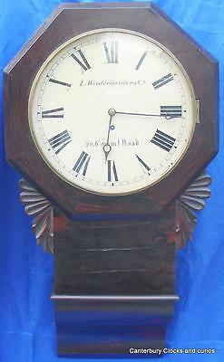 Antique L. Winterhalder 28 Comms Rd 8 Day Dropdial Fusee Dial Clock Serviced