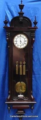 ANTIQUE AUSTRIAN THREE WEIGHT GRANDE SONNERIE 8 DAY VIENNA REGULATOR 1850c